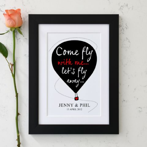Personalised Come Fly With Me Print